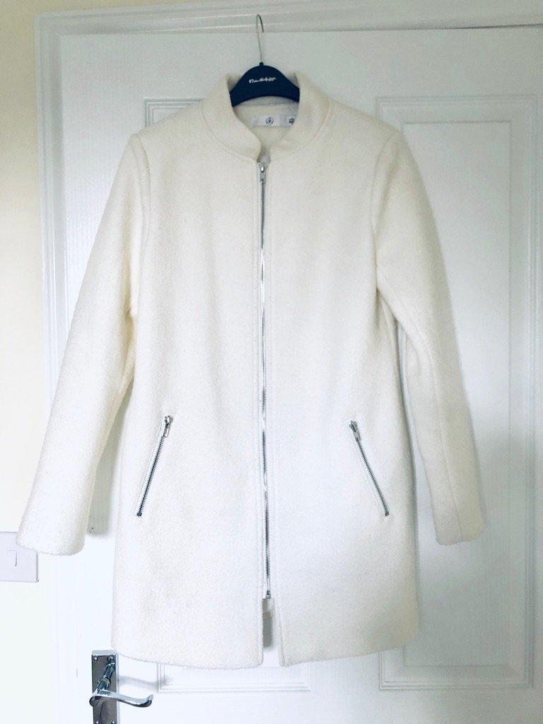 Missguided formal white coat Size 6