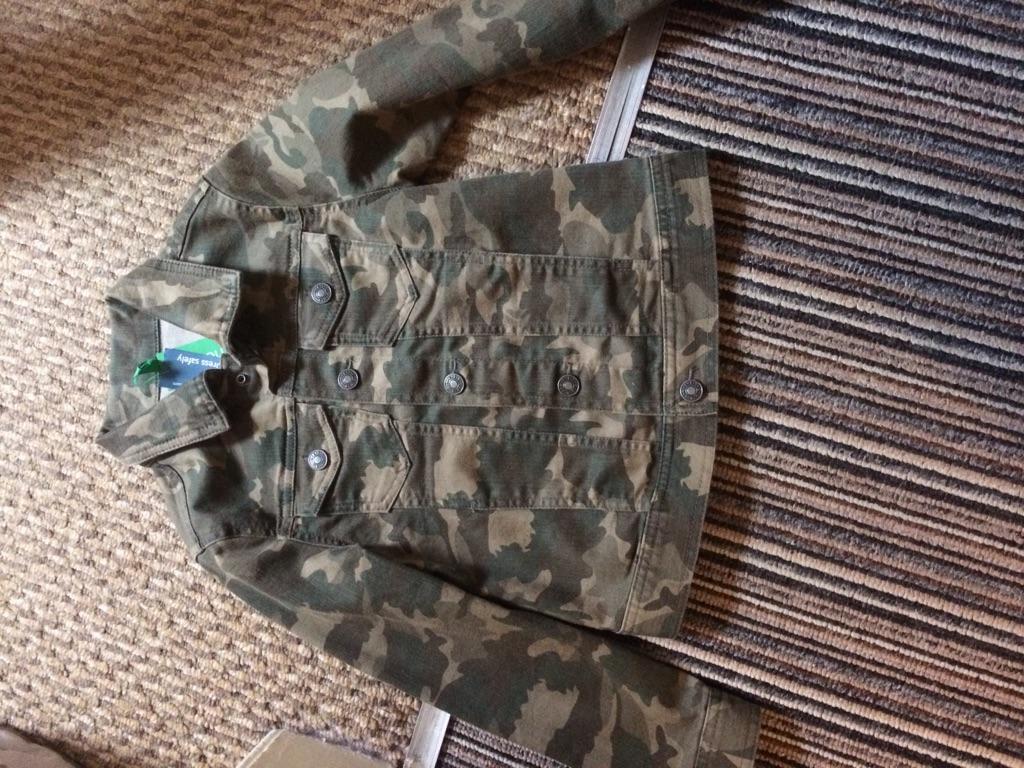 Child's Benetton camouflaged jacket
