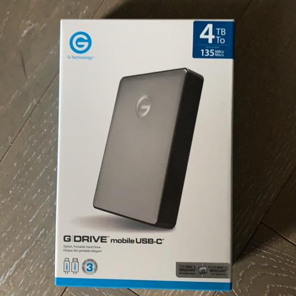 Gdrive external usb-c 4TB portable hard drive. New