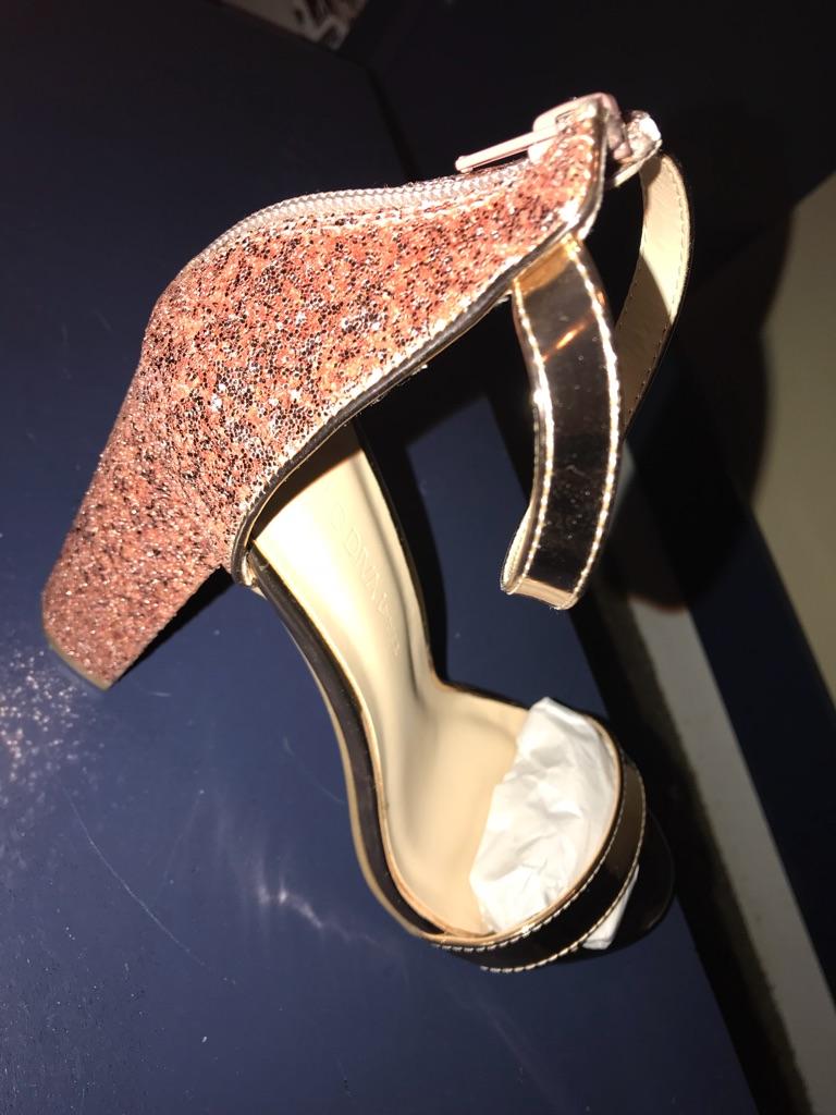 Glittery Chunky Heels size 10