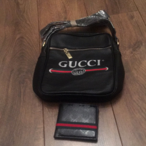 Man bag and matching wallet