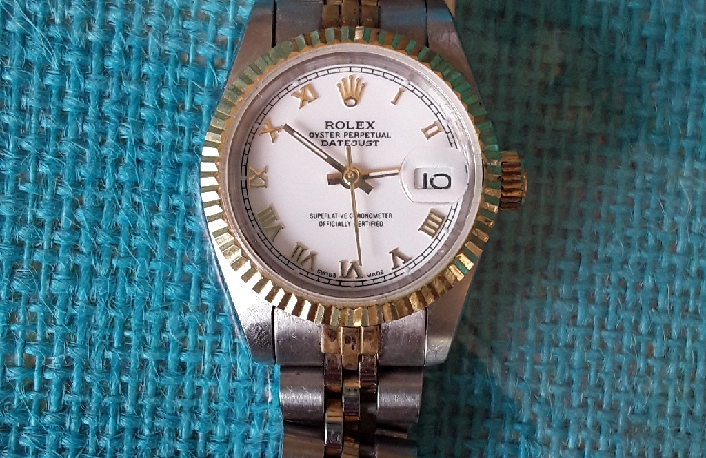 Rolex watch two tone ladies