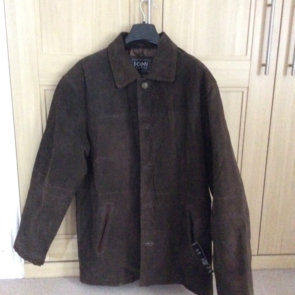 Men's Genuine Leather Jacket(brand new with label attached)