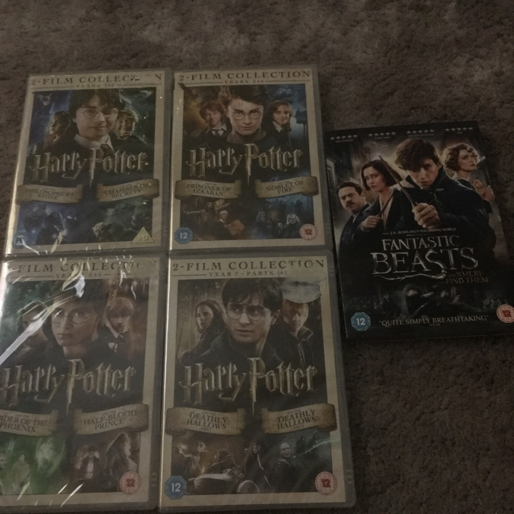 All Harry Potter movies sealed