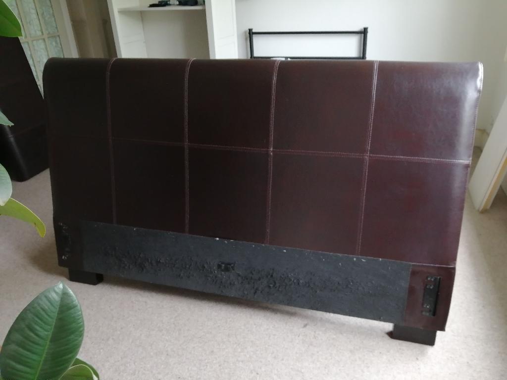 Kingsize leather bed frame