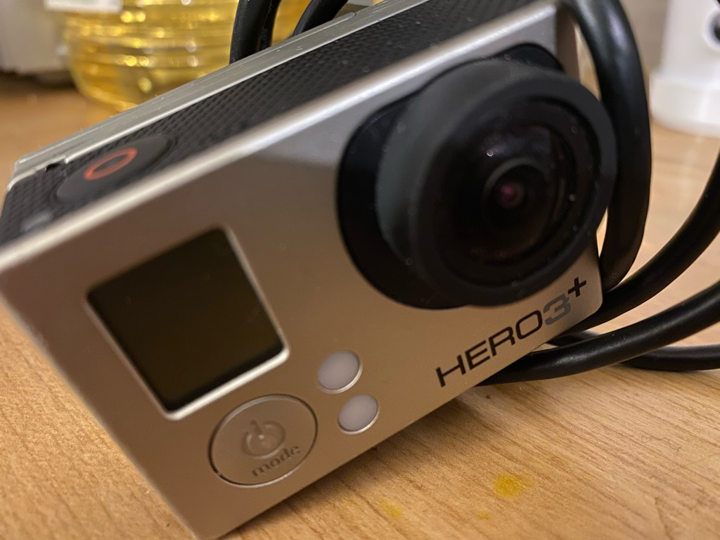 GoPro hero+ plus with battery pack