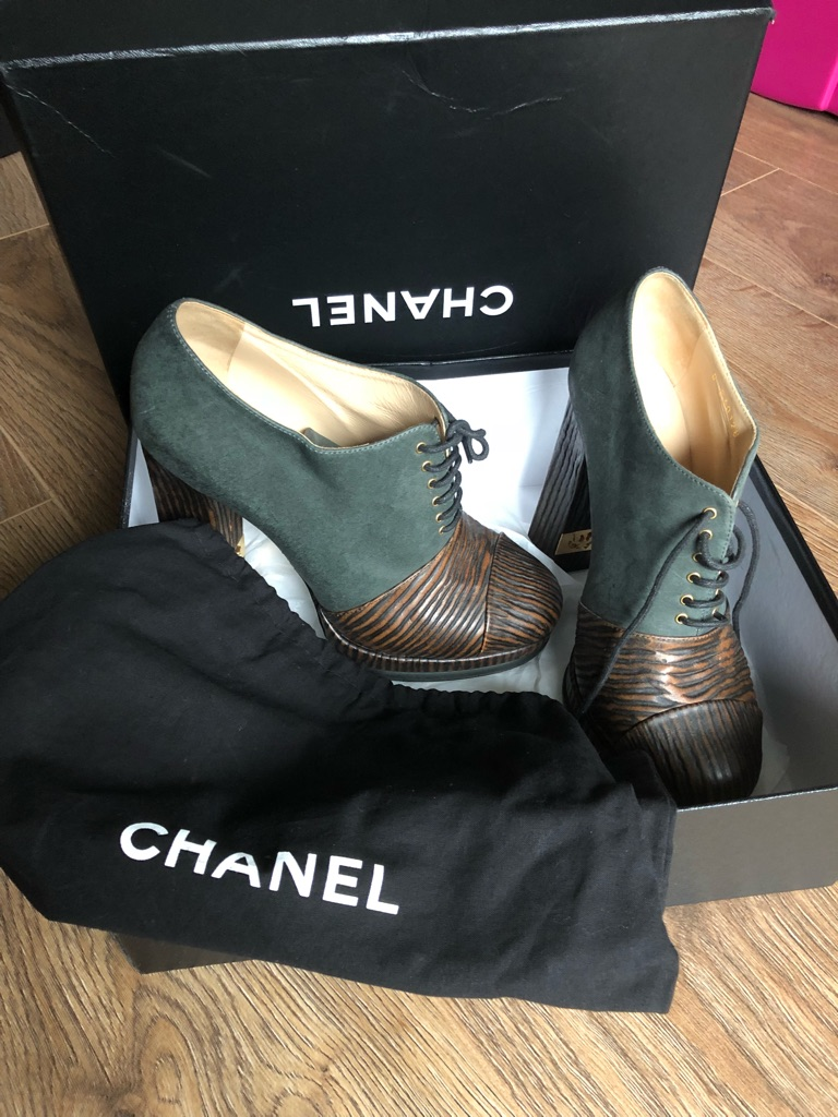 Authentic Chanel booties size 8
