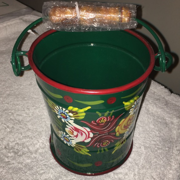 Small painted pail