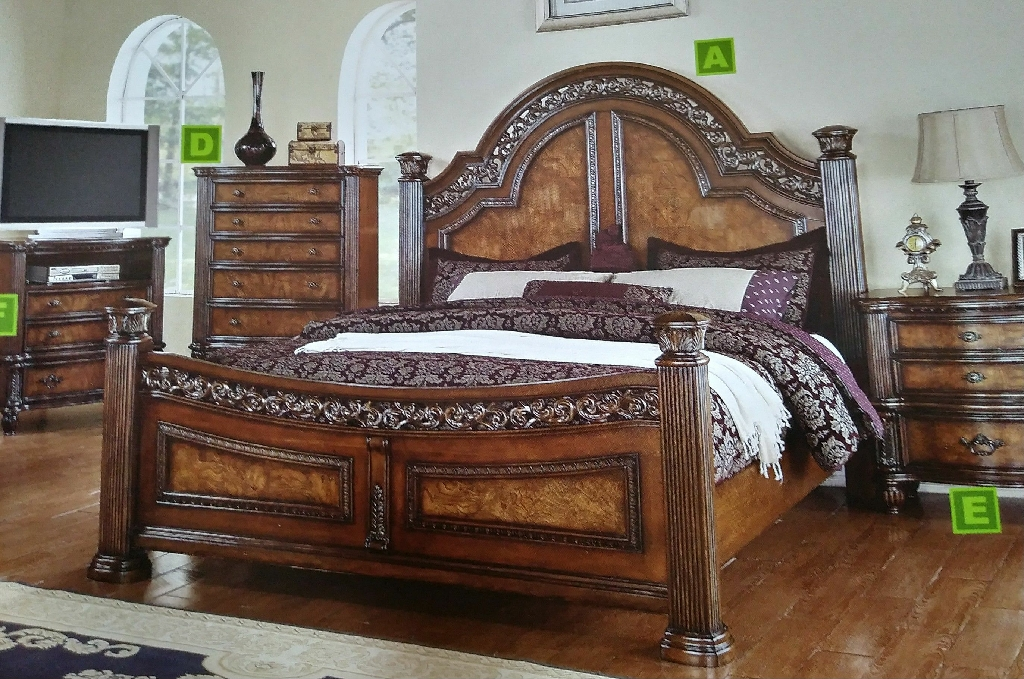 Ceaser Queen Bed ( Available in King)