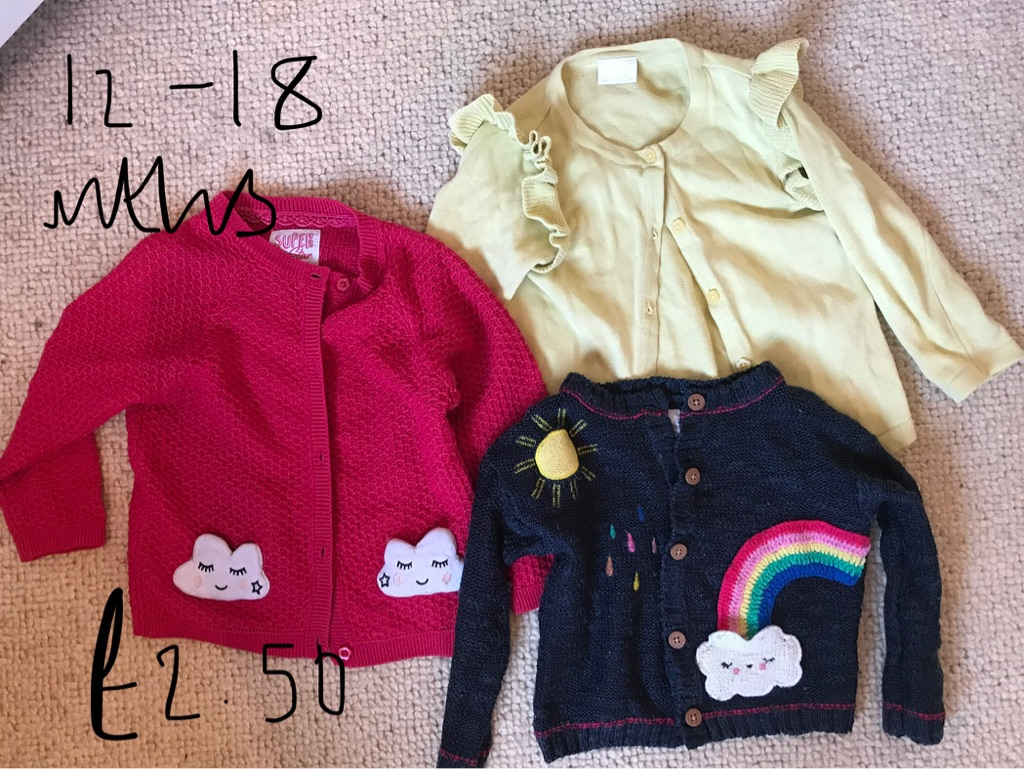 12-18 month play wear cardigans