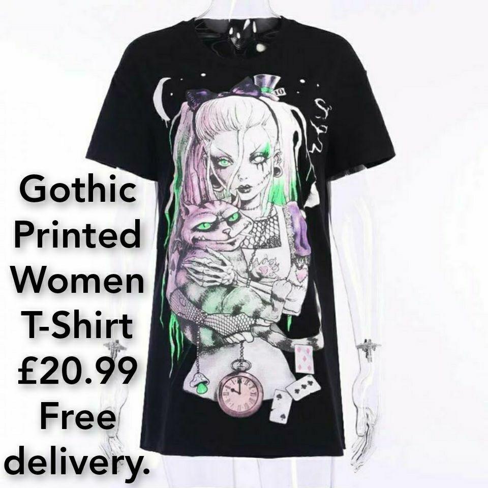 Gothic Printed Women T-Shirt