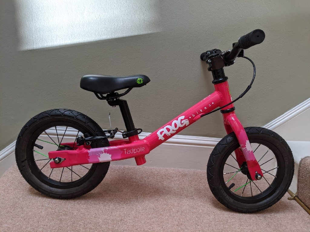 Pink Frog Tadpole Balance Bike