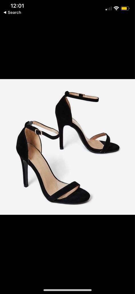 BRAND NEW Black Suede Heels in UK4