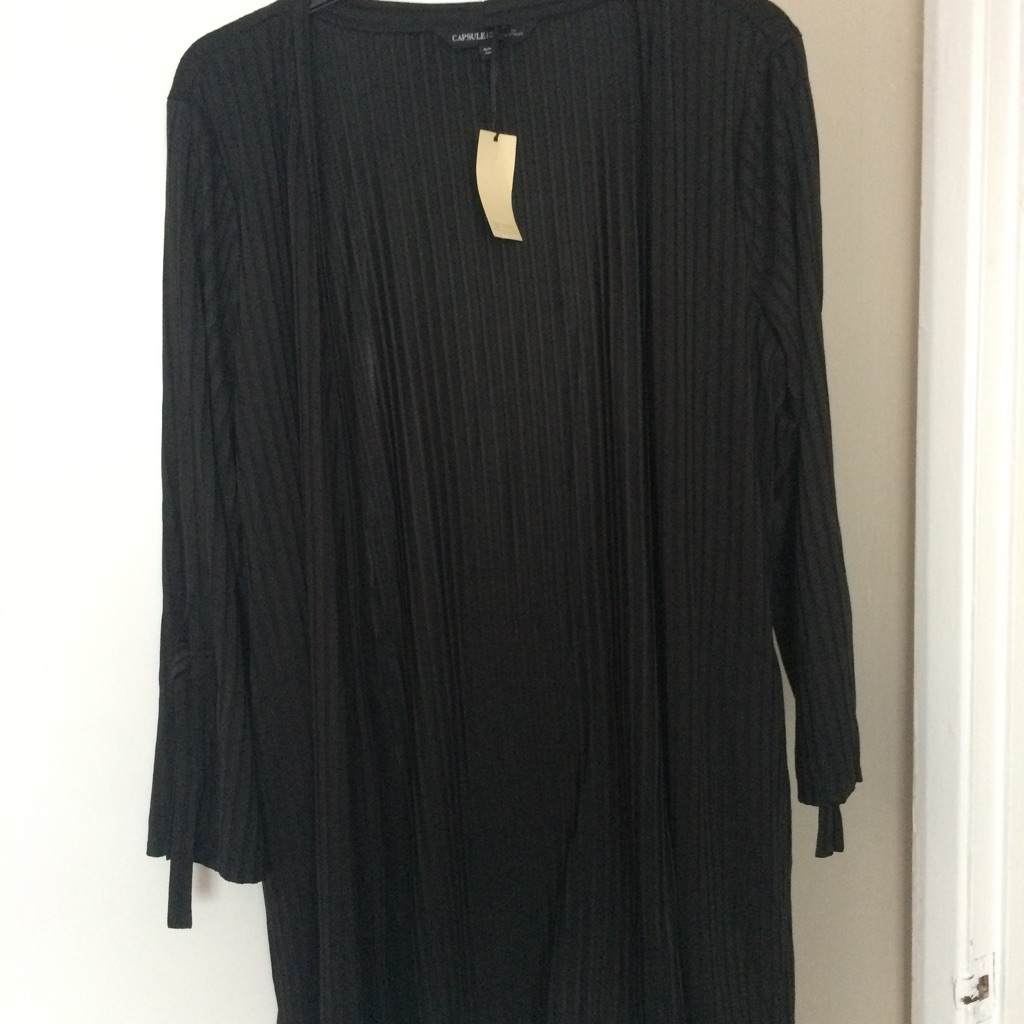 Long loose cardigan