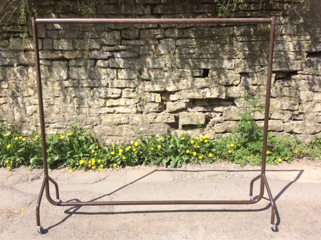 Industrial look metal clothes rail