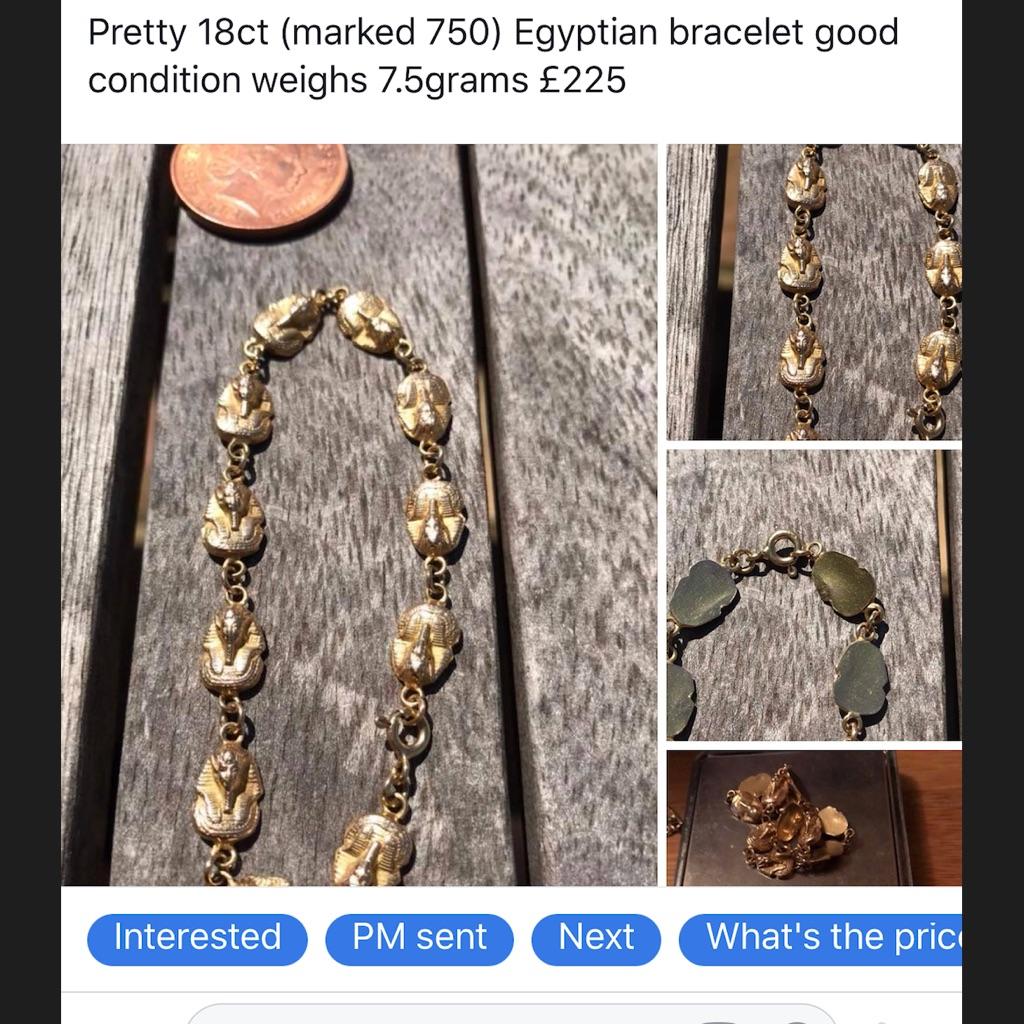 18ct Egyptian bracelet