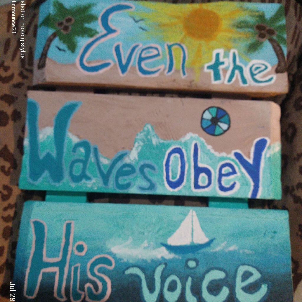Even the waves obey his voice painting