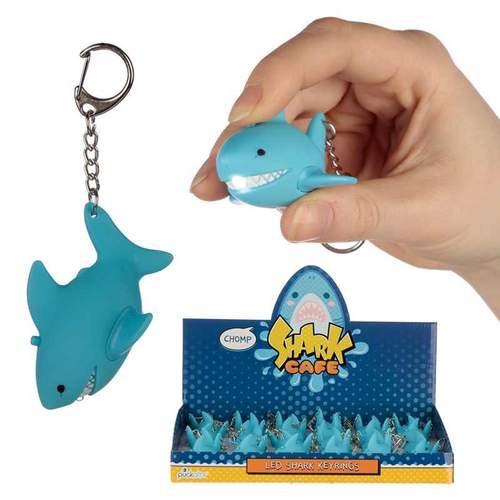 Roaring shark light and sound keyring