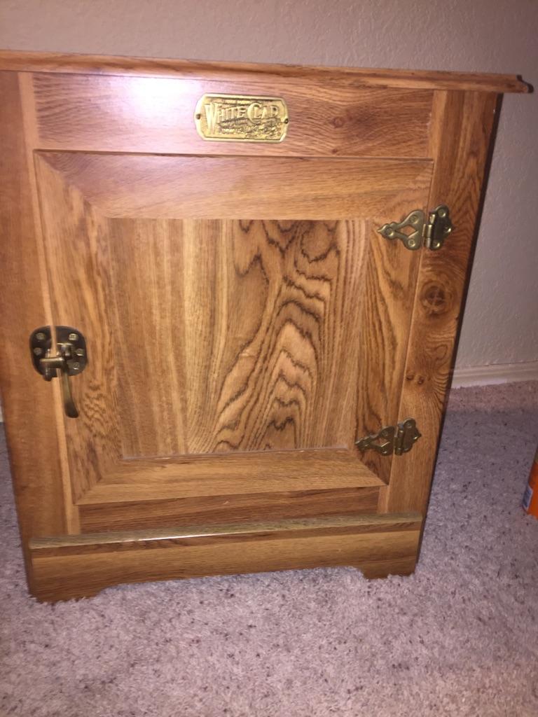 Whiteclad Simmons icebox armoire