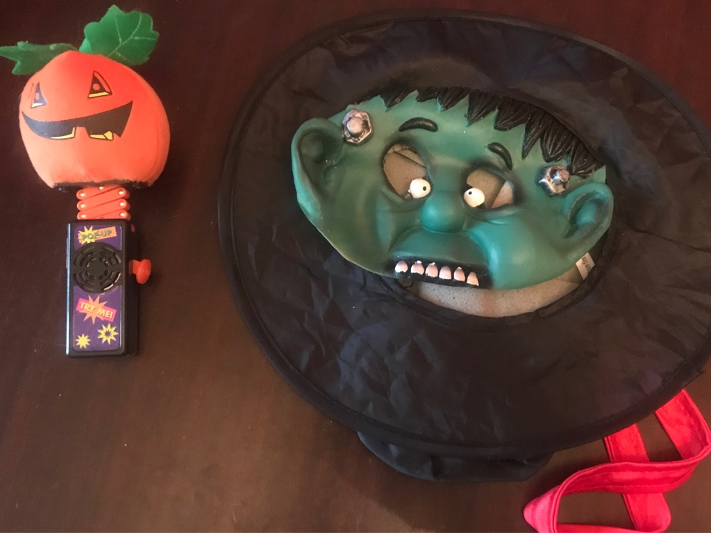 Children's Halloween Hat Mask with Popup Pumpkin