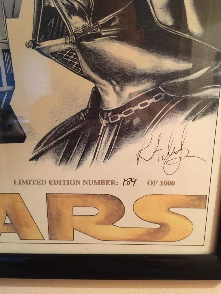 Star Wars limited edition print