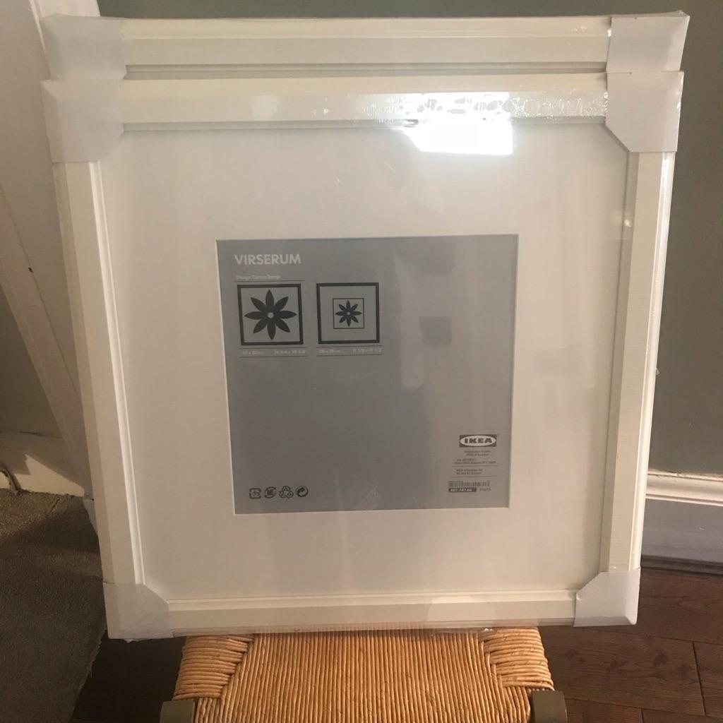 Two beautiful VIRSERUM white ikea frames - 50x50 cm