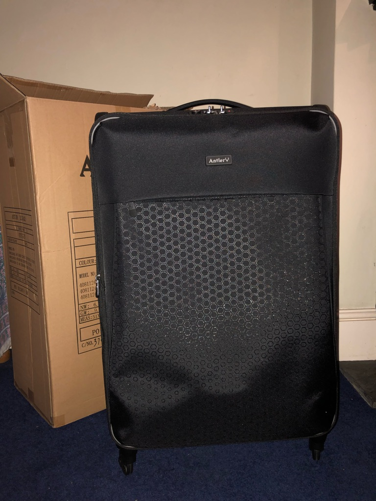 ANTLER EXCLUSIVE OXYGEN SUITCASE LARGE BLACK