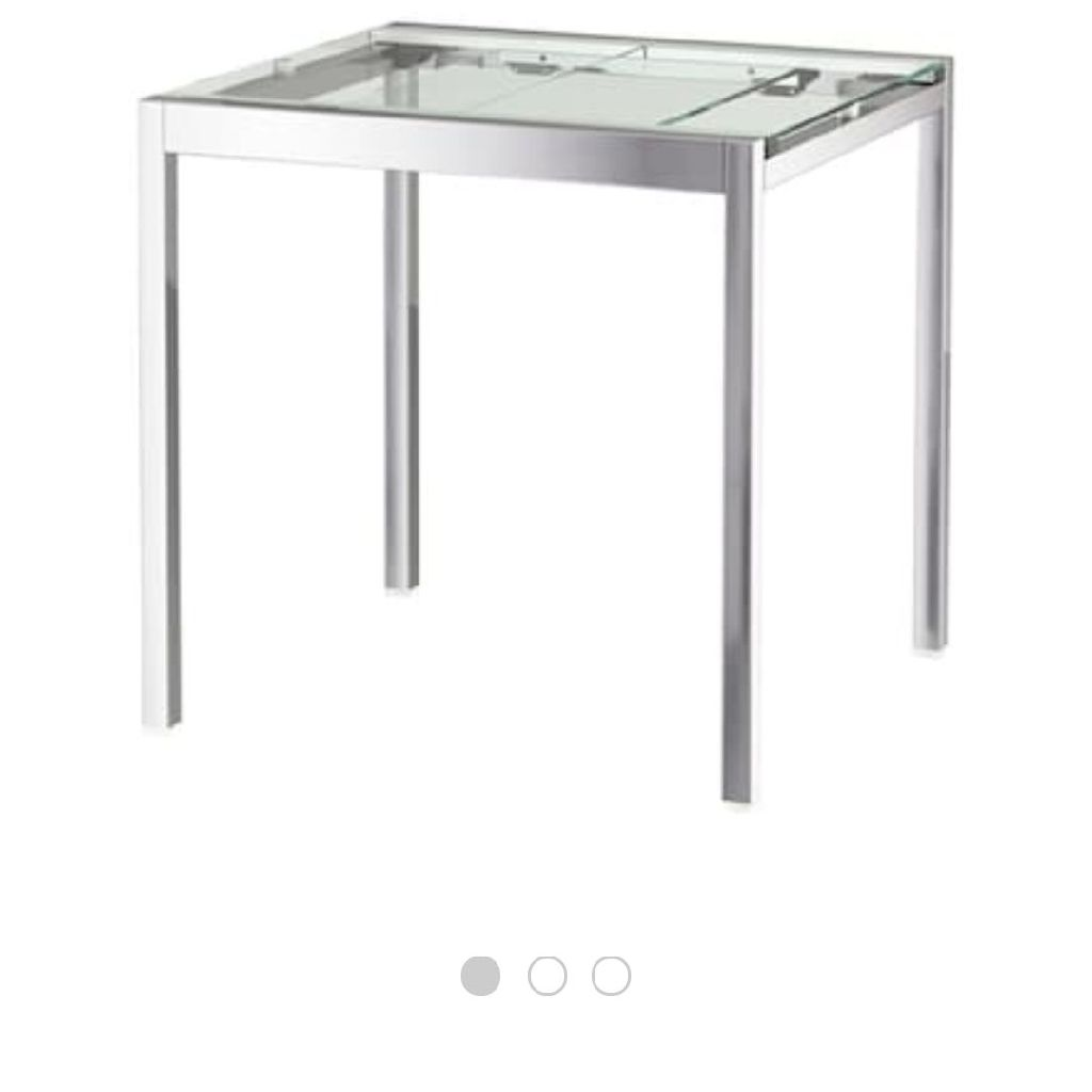IKEA glivarp extendable glass table
