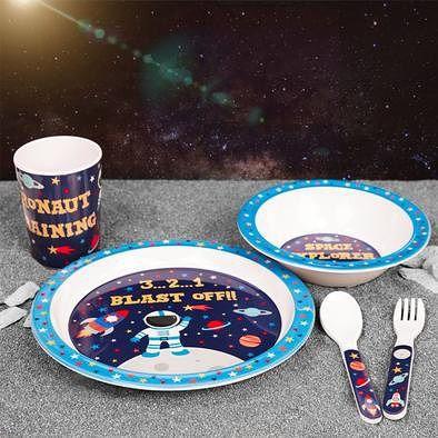 🍽🍴Space Explorer 5 Piece Melamine Set 💥£11.99 + 🚚p&p