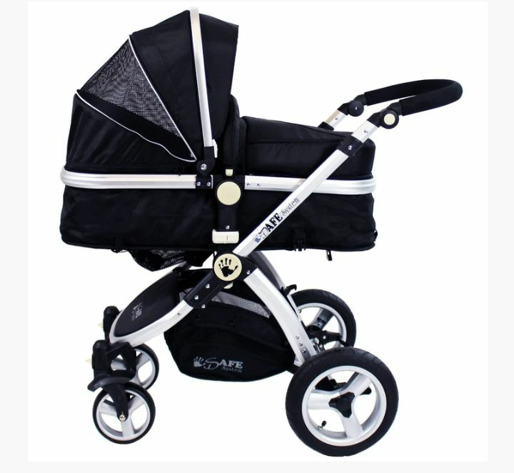 3 IN 1 ISAFE BLACK TRAVEL SYSTEM PRAM  By Inspirational Home Furniture and Gifts
