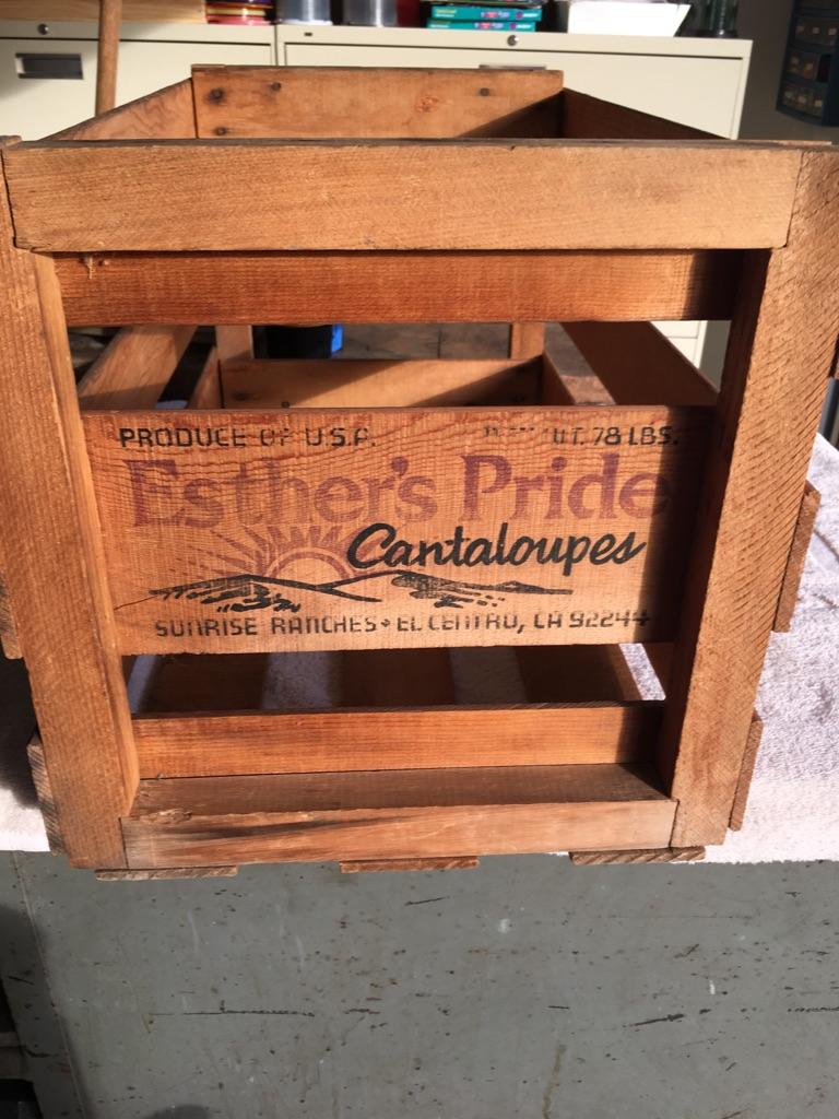 Vintage Wooden Melon Crate
