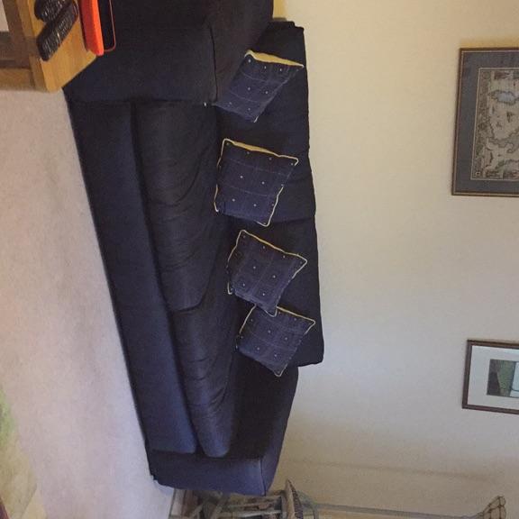 Quality 4 seater navy sofa