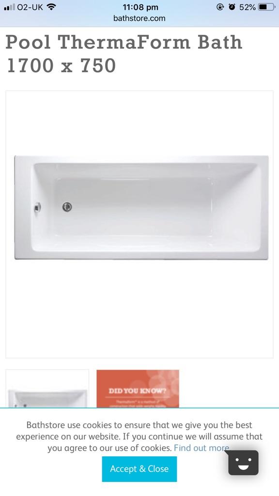 Bath store Pool ThermaForm Bath 1700 x 750