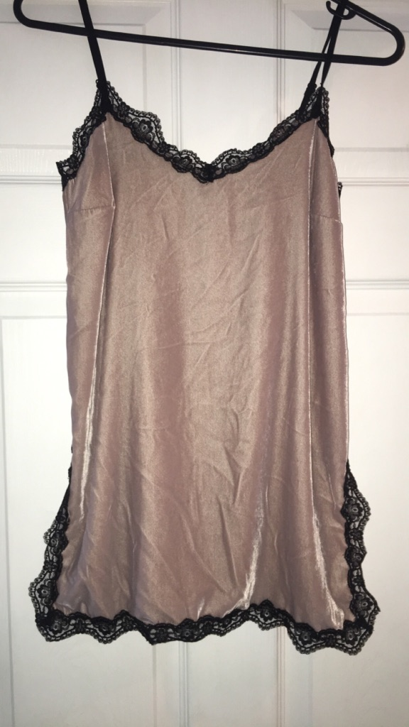 Pink and black lace river island top