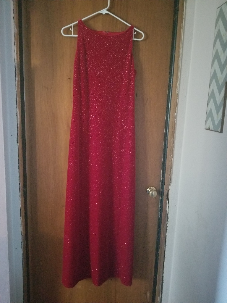 Red sparkling evening dress size 6