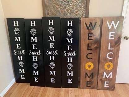 Customized porch signs