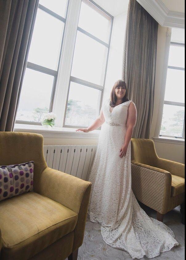Beautiful plus size Studio Levana wedding dress