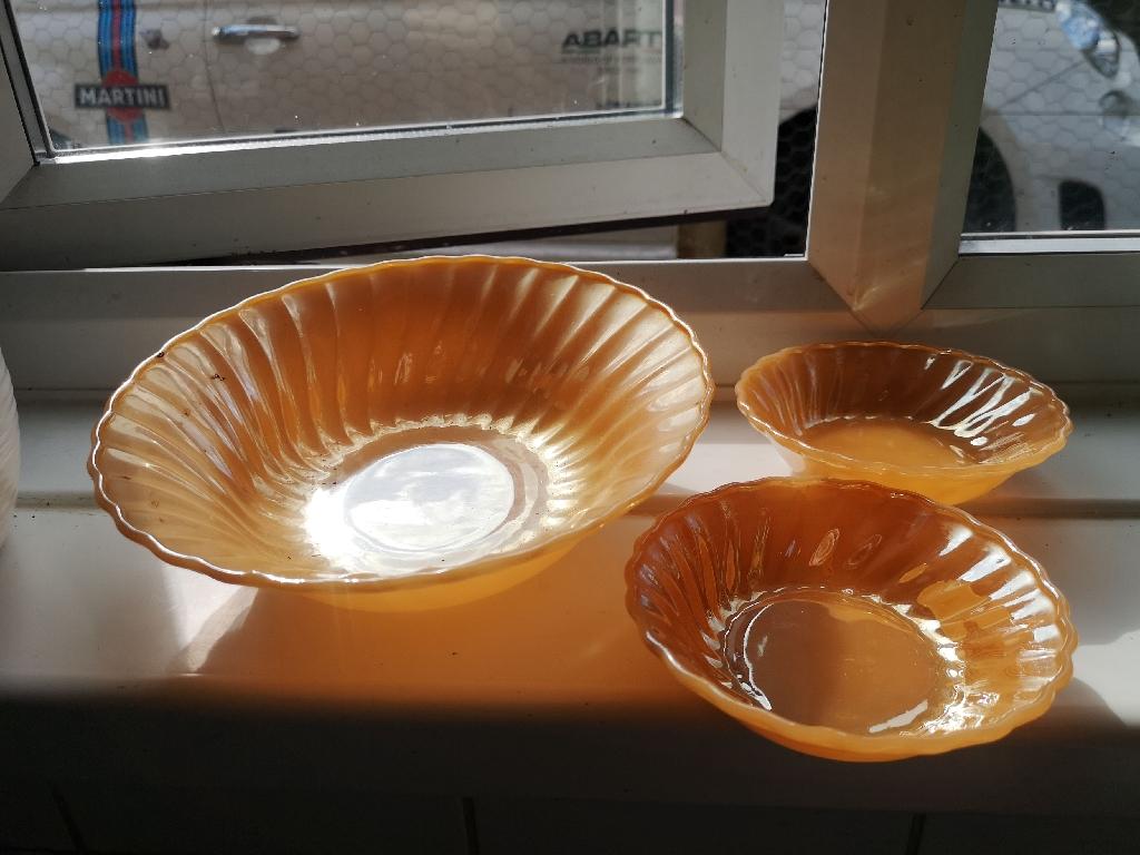 6 piece glass bowl set