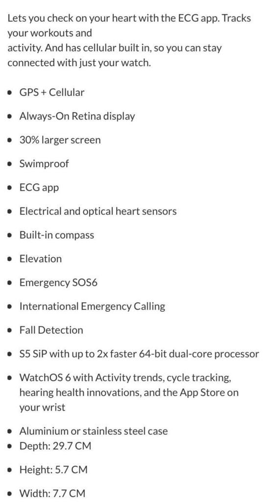Apple Watch Series 5 (GPS + Cellular, 44mm)