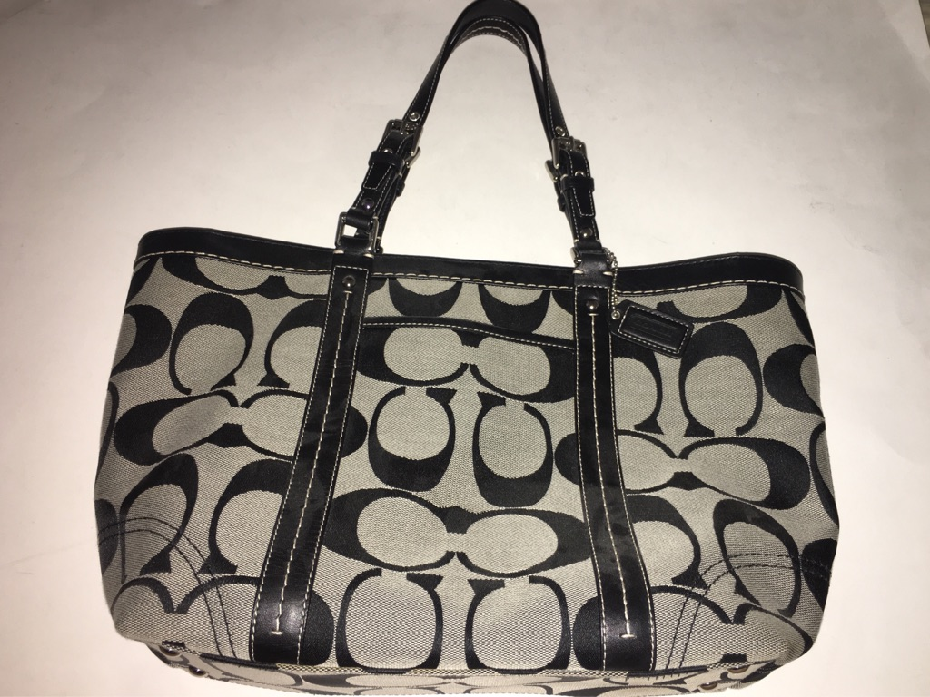 Coach Signature Leather Large Tote