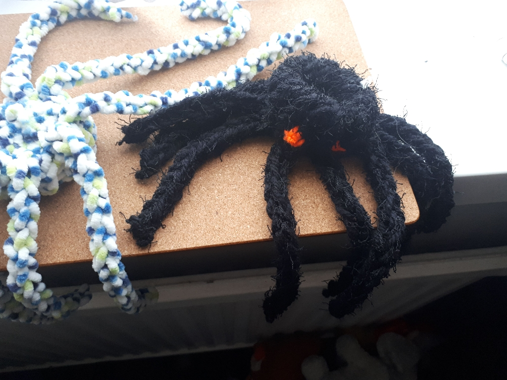 Hand made spider