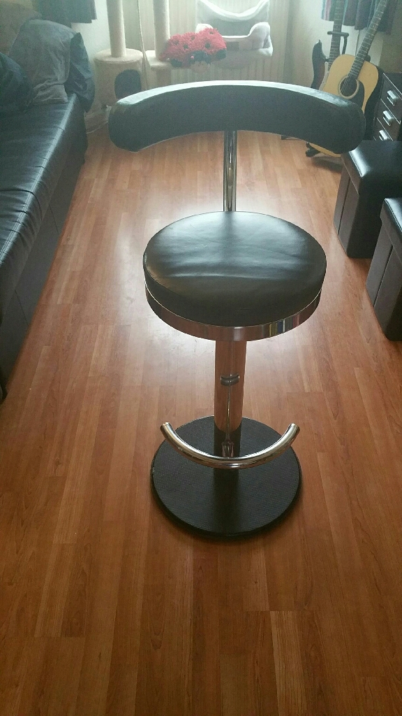 Green leather bar stools