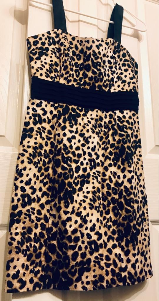 Leopard black and brown mini dress