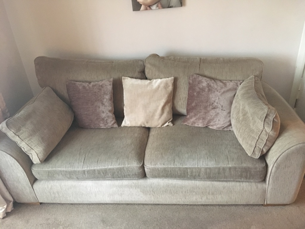 3 seater classic back and 2 seater with scatter cushions