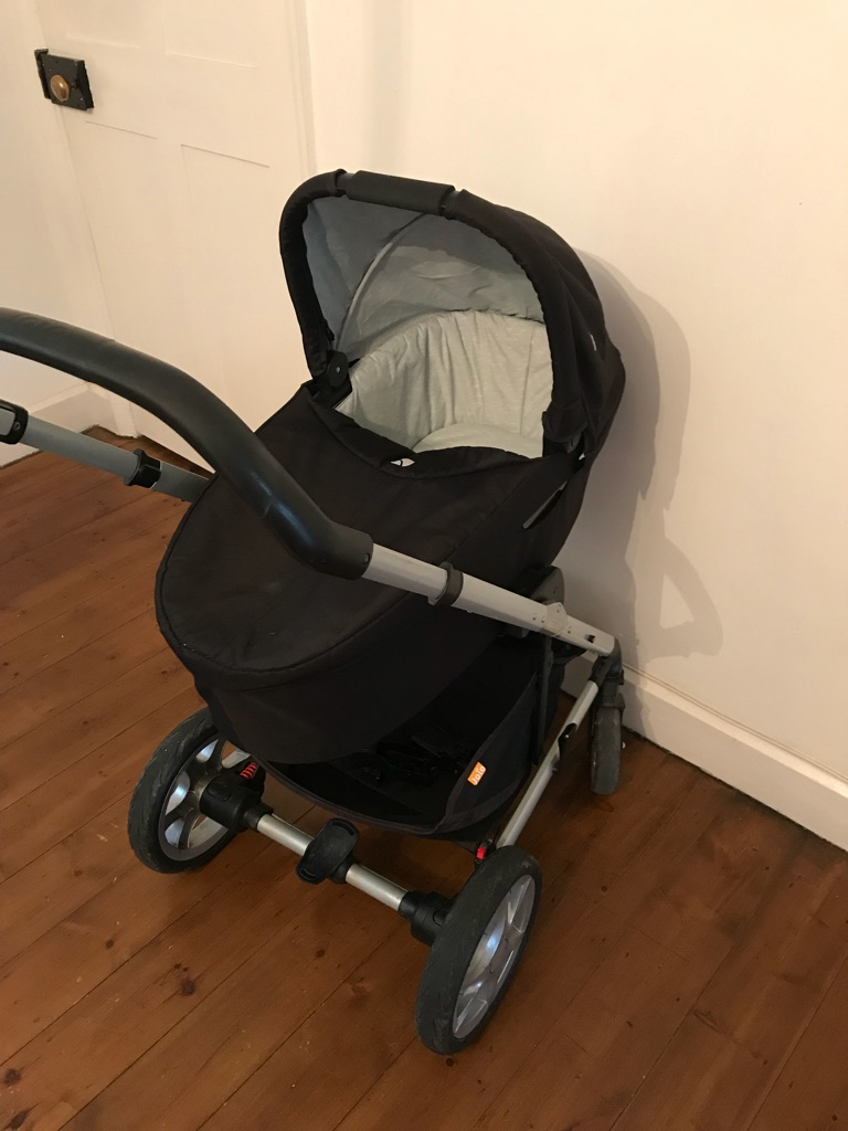 Joie pushchair, carry cot and buggy board