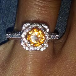 Chocolate Moissanite Engagement Ring Size 8