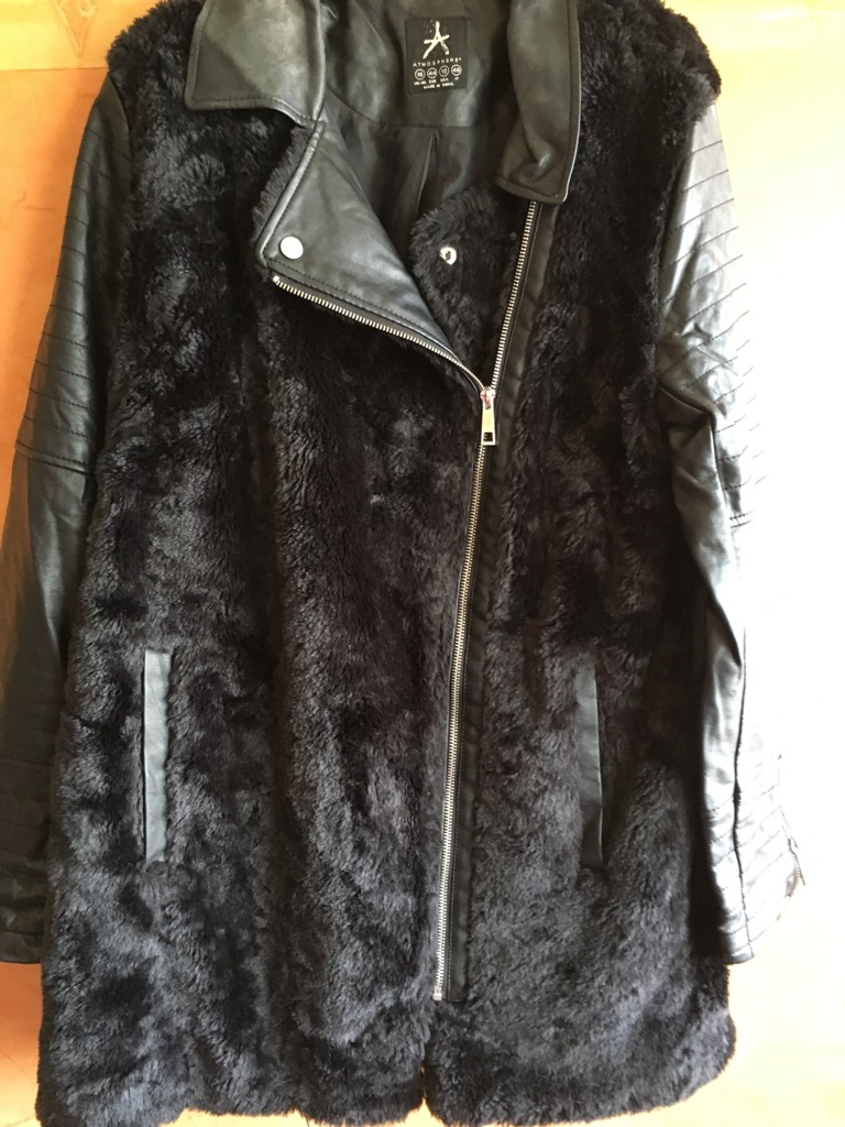 Faux fur/leather jacket