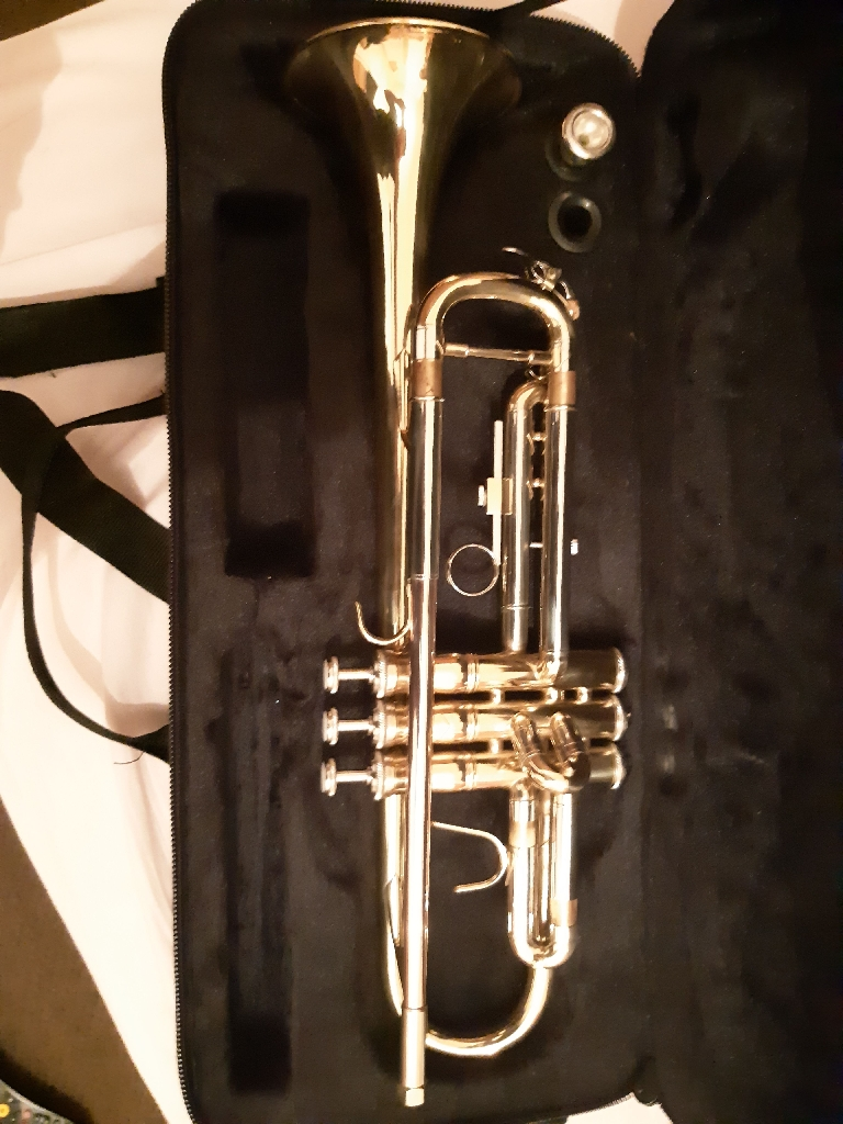 Elkhart 100TR BB 100 Series Trumpet Brand New Hard Case With Mouth Piece RRP £180