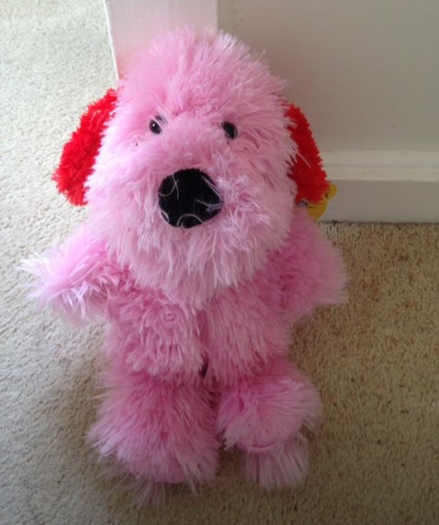 Pink Fluffy Dog Teddy