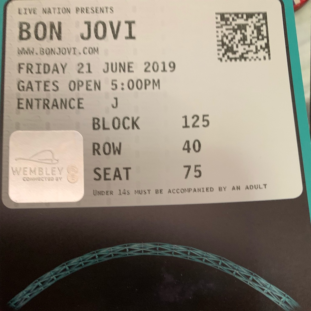 1 Bon Jovi ticket